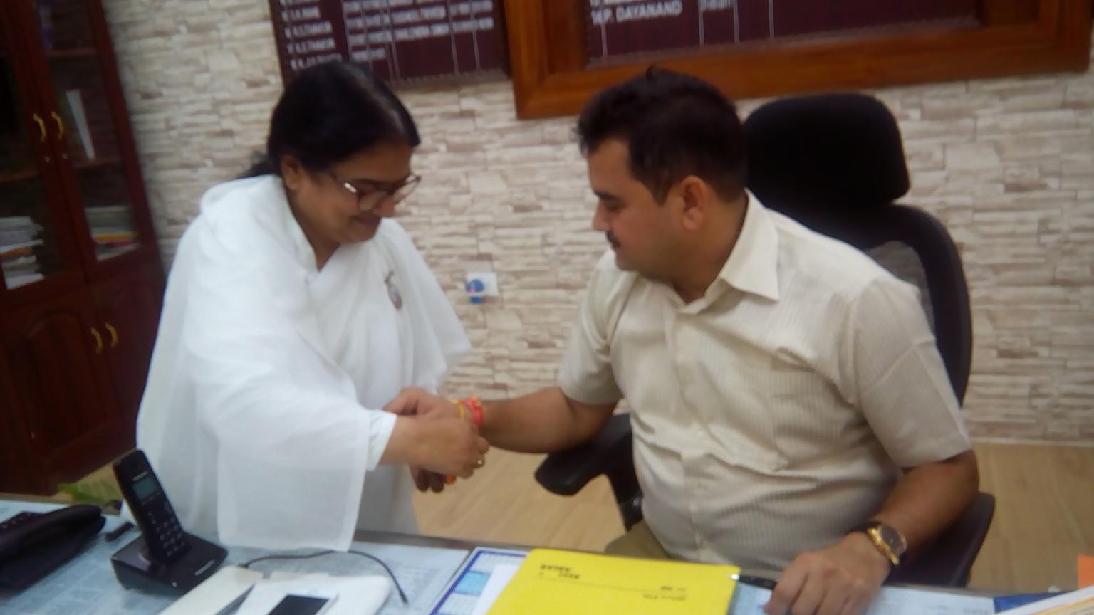 03 to Distt. Collector (Bilaspur) Bro. P. Dayanand by BK Manju_Bilaspur Tikrapara (2)